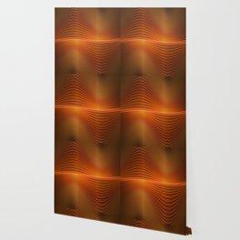 Orange Sine Wave Wallpaper