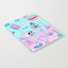 Girly Pastel Goth Witch Pattern Notebook