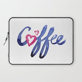 Coffee Lover Typography Laptop Sleeve