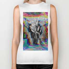 Staggered Elephant #2 Biker Tank