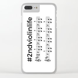 #2ndviolinlife Clear iPhone Case