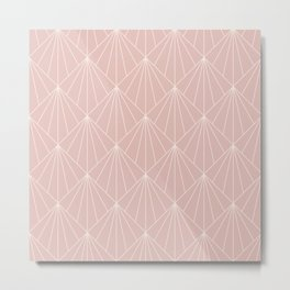 Modern Minimal Dusty Pink Geometric Decor Metal Print