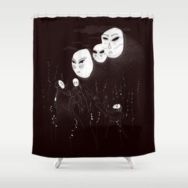 A summon in the night Shower Curtain