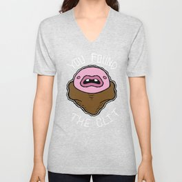 You Found the Clit - Brown Unisex V-Neck