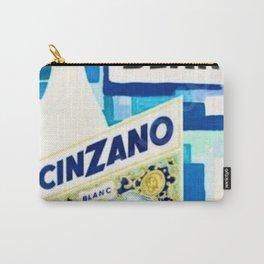 1958 Vintage Cinzano Blanc Beverage Villemot Advertisement Poster Carry-All Pouch