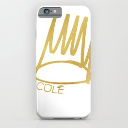 J. Cole Born Sinner Golden Crown iPhone Case