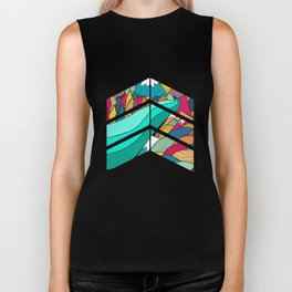 River in the mountains Biker Tank