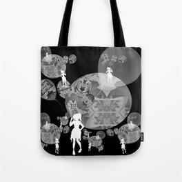 Black and White Surreal Balloon Girl Tote Bag