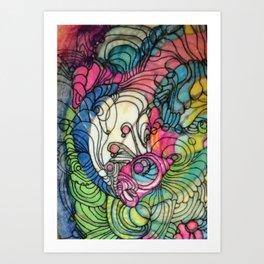 Pink v Blue Art Print