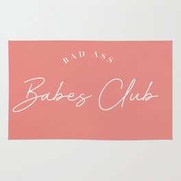bad ass babes club Rug
