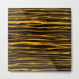 Golden Honey Drizzle Metal Print
