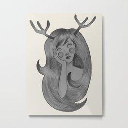 Cierva de ojos blancos  Metal Print