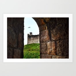 Cardiff Castle, Wales. Art Print