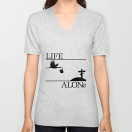 Life Alone Unisex V-Neck
