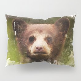 Bear Cub - Watercolor Pillow Sham