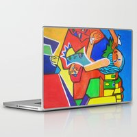 cage Laptop & iPad Skins featuring Gilded Cage by Ming Myaskovsky