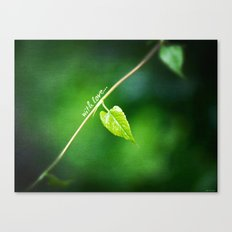 From nature with LOVE... Canvas Print