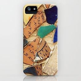 Neve Zedek Mosaic Wall iPhone Case