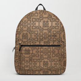 Chinese Pattern Double Happiness Symbol on Wood Backpack