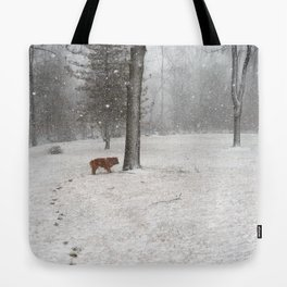 Weather only a dog could love Tote Bag