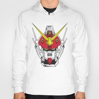 gundam Hoodies featuring Heavyarms Gundam Wing by Andrew Huckleberry