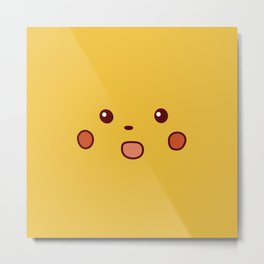 Surprised Pika Metal Print