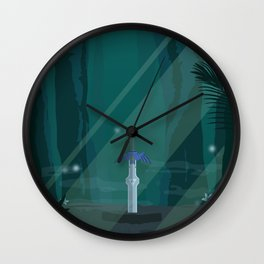 Lost Woods (Legend of Zelda) Travel Poster Wall Clock