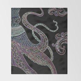 Octopus Oblivion Throw Blanket
