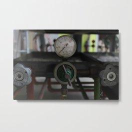 Valve Steampunk Photography Metal Print