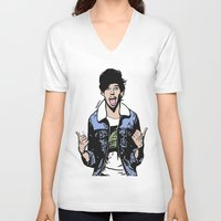 louis tomlinson V-neck T-shirts featuring Louis Tomlinson by 90's Class