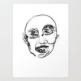 FACES / 007 Art Print