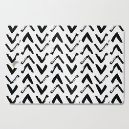 Black & White Mud Cloth Inspired Arrows Cutting Board