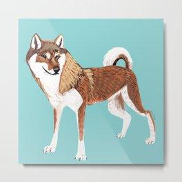 Year of the dog: Shikoku Inu (Red) Metal Print