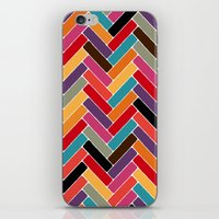 herringbone iPhone & iPod Skins featuring herringbone by Sharon Turner