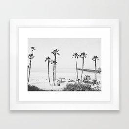 PALM TREES X / California Framed Art Print