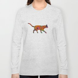 Psychedelic Cat Long Sleeve T-shirt