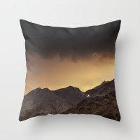 desert Throw Pillows featuring Desert by Mila Pechenyakova