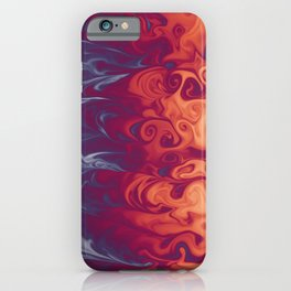 Vivid colors marble effect abstract pattern digital illustration  iPhone Case