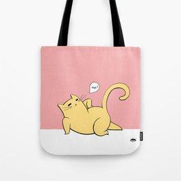 Cat Pinup - Yellow Tote Bag