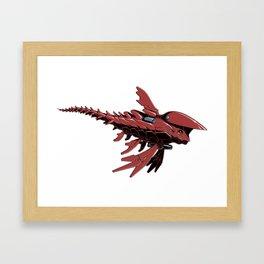 Microfish Red Edition Framed Art Print