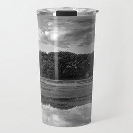 Annisquam river reflections Black and White Travel Mug