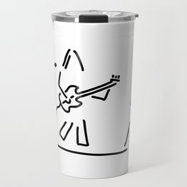 rock musician guitar headbanger Travel Mug
