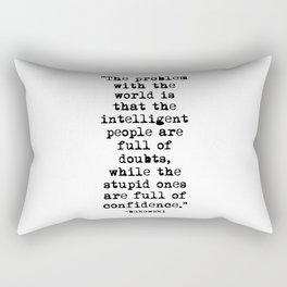 Charles Bukowski Typewriter Quote Confidence Rectangular Pillow