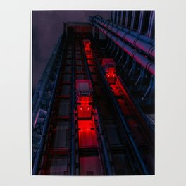 Lloyds of London Tower, England Poster