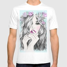 Coup de foudre White MEDIUM Mens Fitted Tee