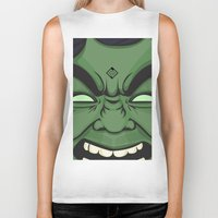 hulk Biker Tanks featuring Hulk by illustrationsbynina