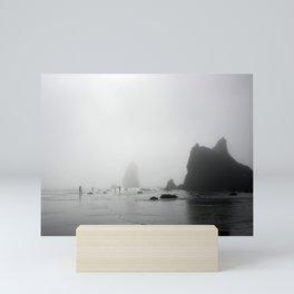 Oregon, Haystack Rocks & Fog Mini Art Print