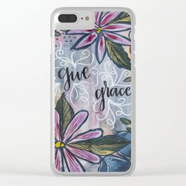 Give Grace Clear iPhone Case