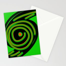 Spin Out Sixty Nine green black orange  six nine disc turntable vinyl 69 Angelis Stationery Cards