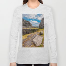 Dinorwic Slate Quarry Snowdonia Long Sleeve T-shirt